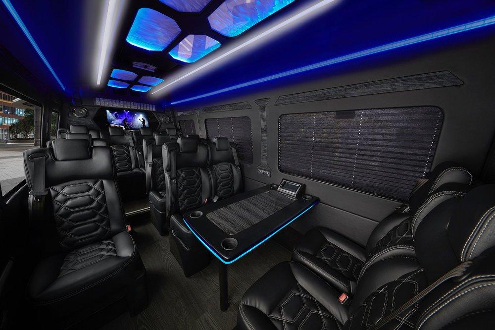 Executive limo interior