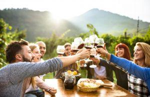 People Wine Tasting in Napa