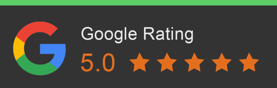 Google rating with 5 stars
